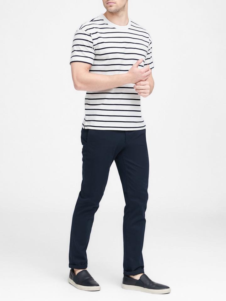 Erkek Lacivert SUPIMA® Pamuklu Grafic T-Shirt