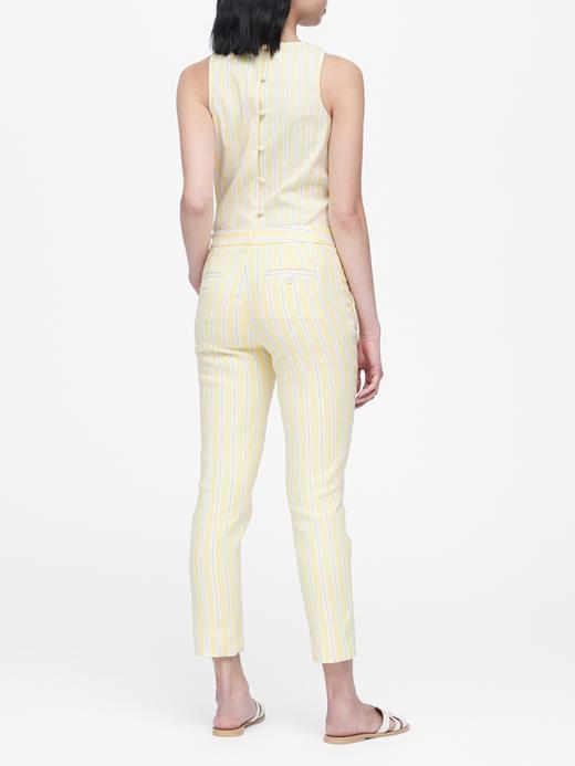 Kadın Sarı Avery Straight-Fit Pantolon