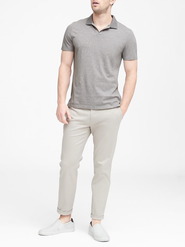 Erkek Kırmızı Luxury-Touch Polo T-shirt