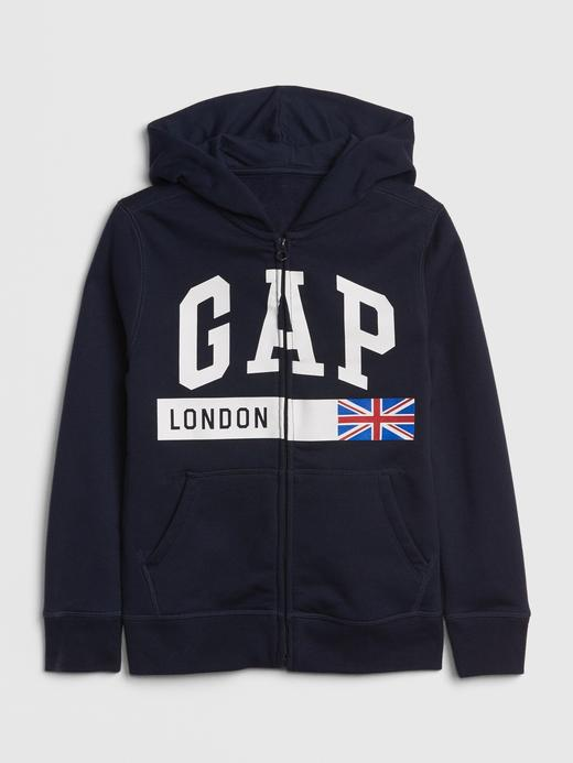 Gap Logo Bayrak Baskılı Sweatshirt