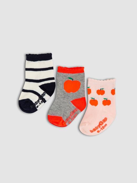 Bebek Çok renkli 3'lü Çorap Seti