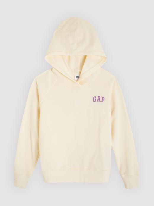 Kız Çocuk bej Gap Logo Kapüşonlu Sweatshirt