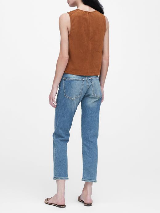 Kadın Kahverengi Vegan Süet Bluz