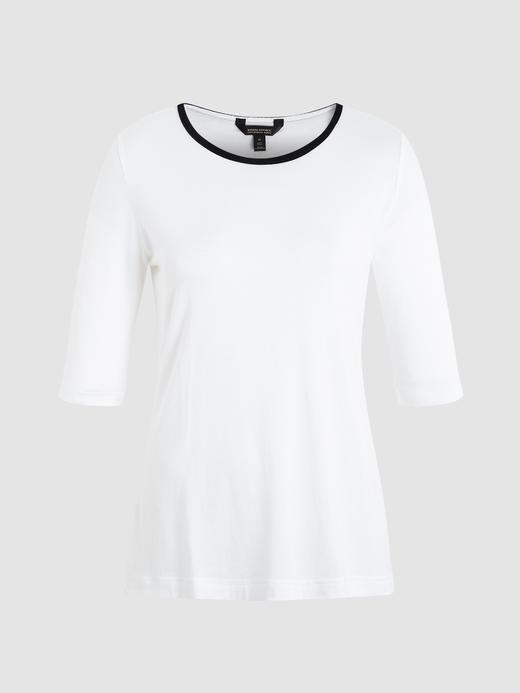 Kadın Beyaz Kadife T-shirt