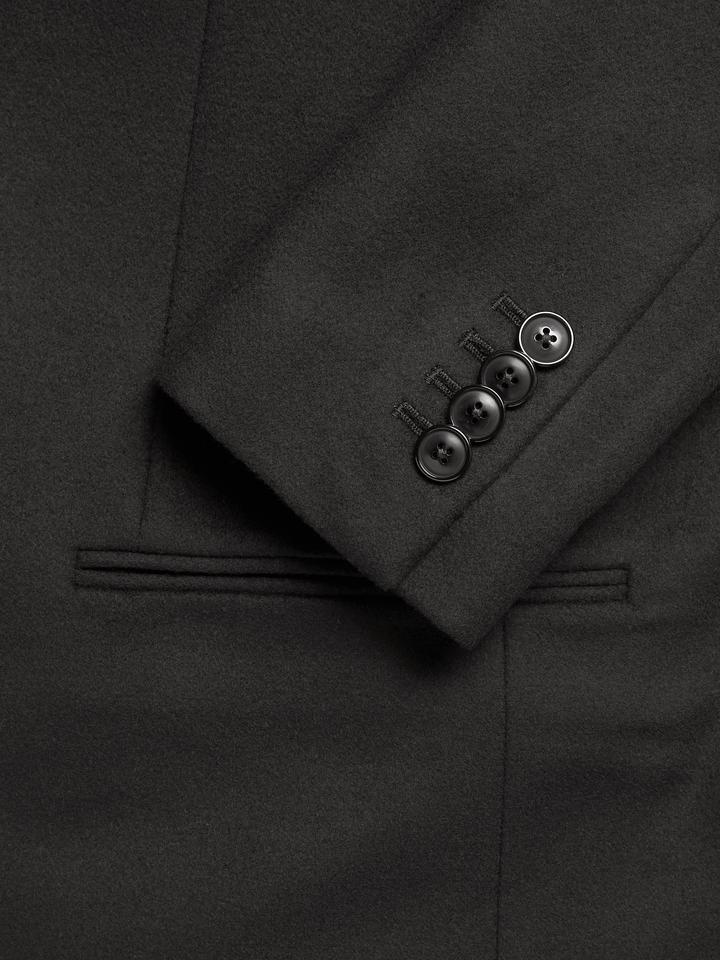 Erkek siyah İtalyan Palto
