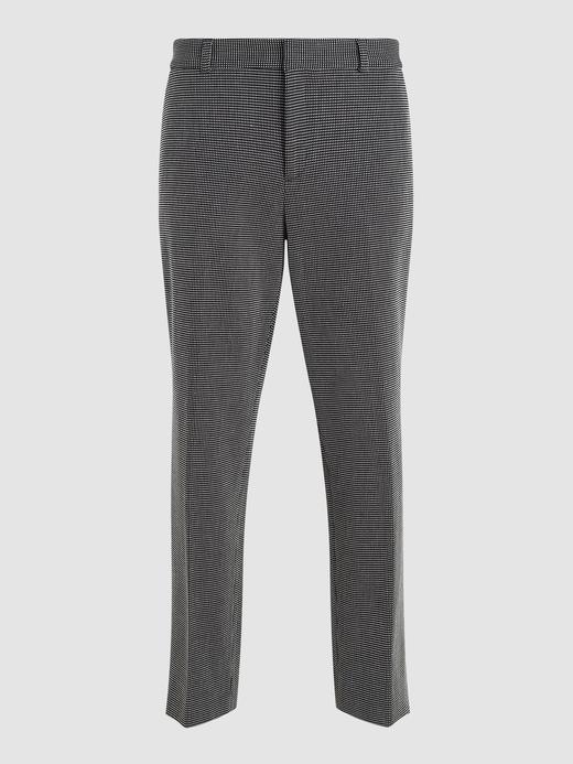 Kadın siyah beyaz Avery Straight-Fit Pantolon