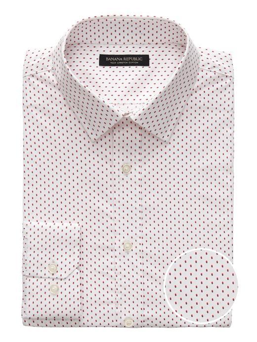 Erkek Beyaz Slim-Fit Streç Gömlek