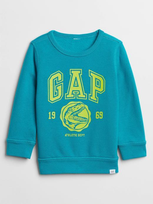 Bebek Mavi Gap Logo Grafik Sweatshirt