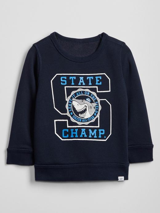 Bebek Lacivert Gap Logo Grafik Sweatshirt