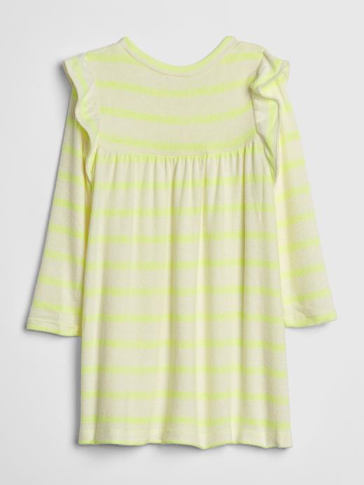 Bebek Lacivert Uzun Kollu Elbise