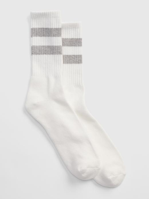Erkek Gri Çizgili Çorap