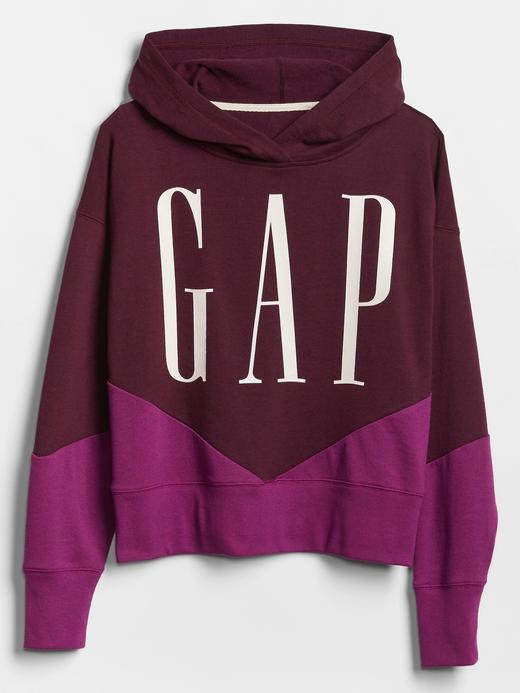 Kadın Bordo Gap Logo Kampüşonlu weatshirt