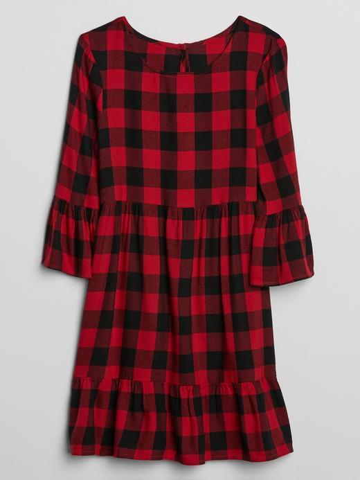 Kız Çocuk Kırmızı Kareli Elbise