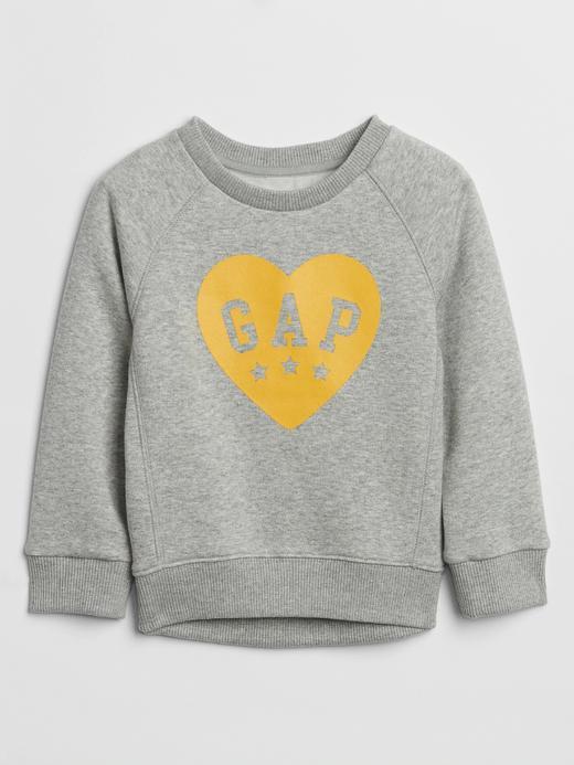 Bebek Gri Grafik Sweatshirt