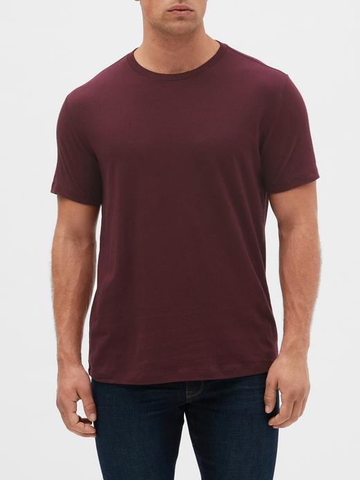 Erkek Bordo Kısa Kollu T-Shirt