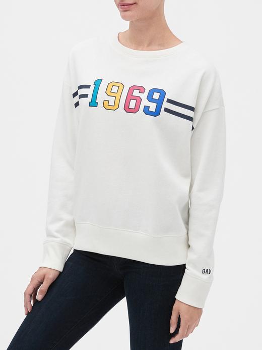 Kadın Beyaz Vintage  Sweatshirt