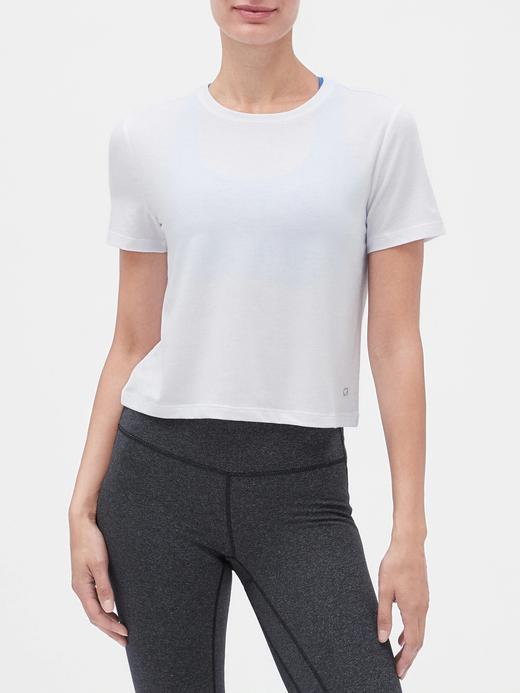 Kadın Beyaz GapFit Kısa Kollu T-shirt