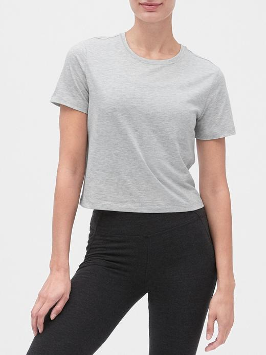 Kadın Gri GapFit Kısa Kollu T-shirt