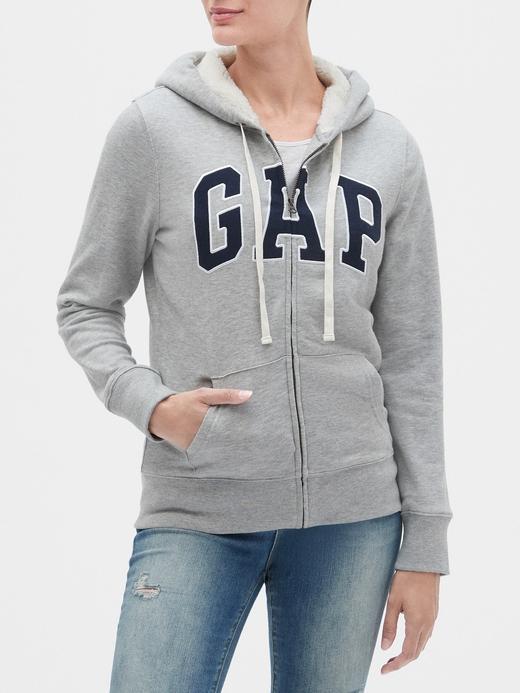 Gap Logo Sherpa-Lined Kapüşonlu Sweatshirt