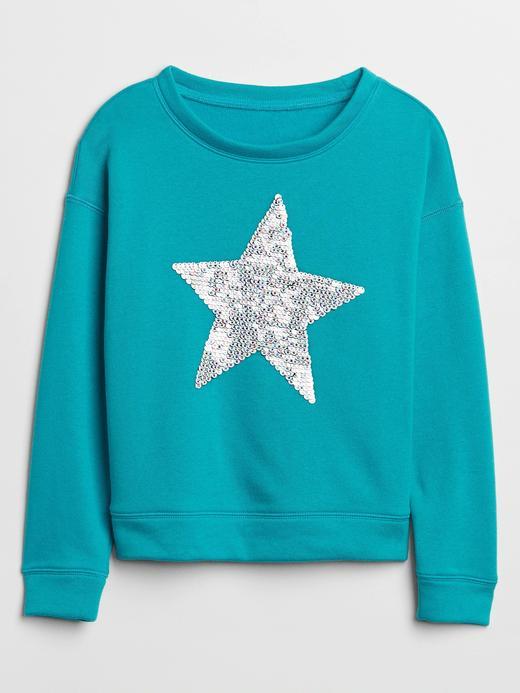 Kız Çocuk Yeşil Baskılı Grafik Sweatshirt