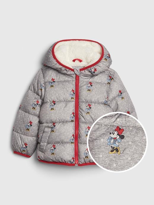 Bebek Gri Disney Minnie Mouse Pufa Mont