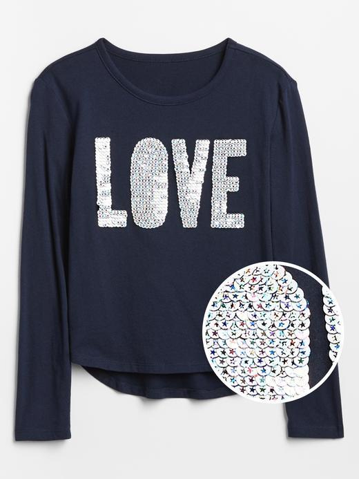 Kız Çocuk Lacivert Flippy Pullu T-shirt