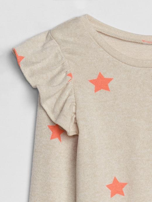 Softspun Fırfırlı Uzun Kollu T-shirt