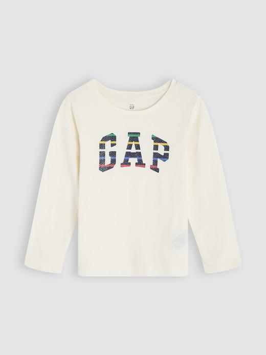 Bebek Bej Gap Logo Uzun Kollu T-Shirt
