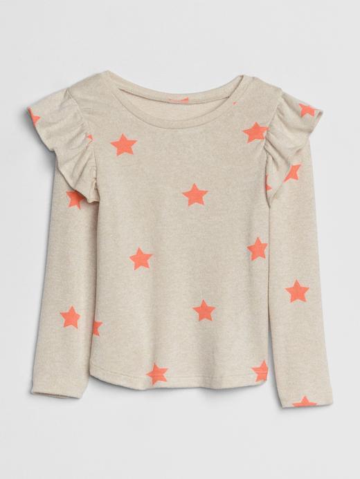 Bebek Bej Softspun Fırfırlı Uzun Kollu T-shirt