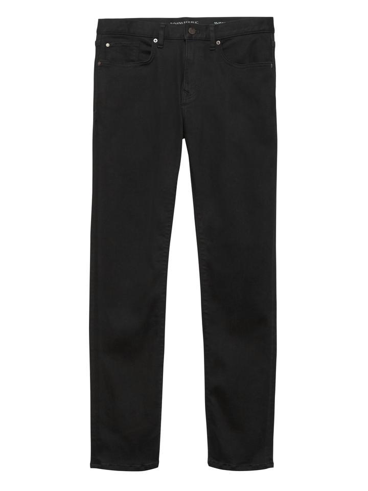Erkek Siyah Slim LUXE Jean