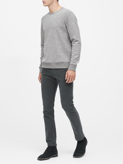 Erkek Pembe Waffle-Knit Termal Uzun Kollu T-shirt