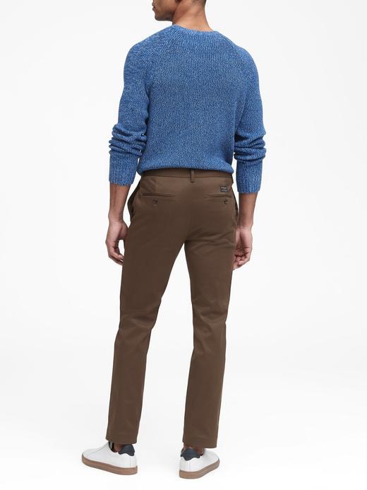 Erkek Mavi Fulton Skinny Chino Pantolon