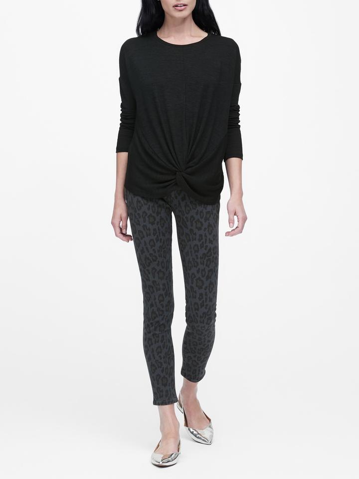 Luxespun Bükümlü Uzun Kollu T-Shirt