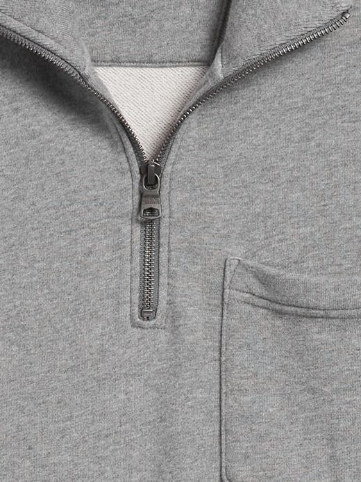 Erkek Bordo French Terry Yarım Fermuarlı Sweatshirt