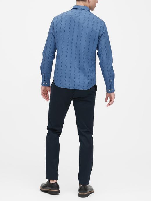 Erkek Mavi Standart-Fit Luxe Poplin Gömlek