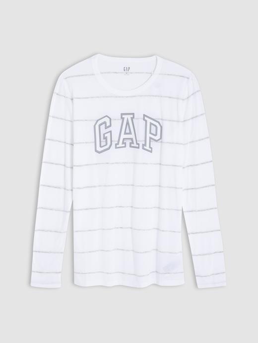 Kadın Gri Gap Logo Uzun Kollu T-Shirt