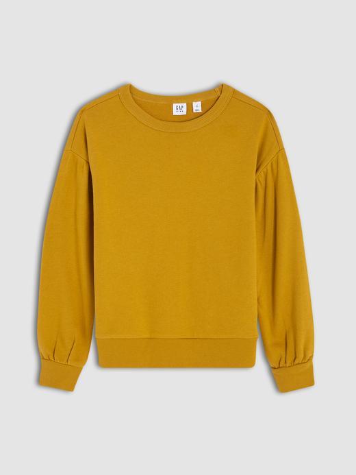 Kız Çocuk Sarı Yuvarlak Yakalı Sweatshirt