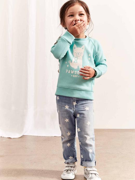 Bebek Mavi Grafik Sweatshirt