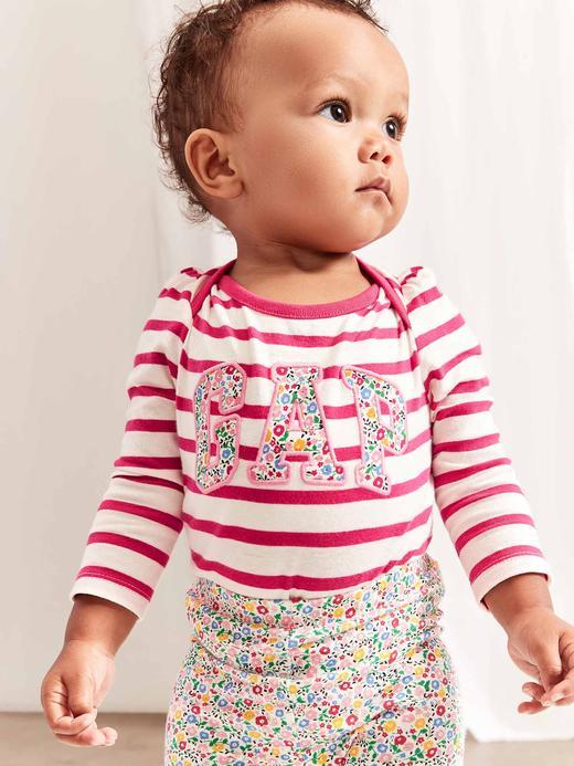 Bebek kirmizi Gap Logo Uzun Kollu Body