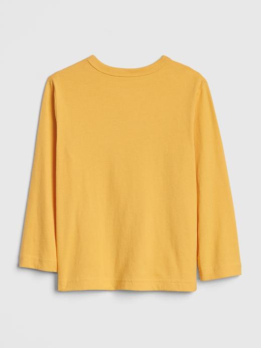 Erkek Bebek Sarı Grafik Uzun Kollu T-Shirt