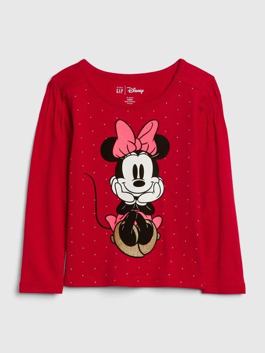 Kız Bebek Kırmızı Disney Minnie Mouse Uzun Kollu T-Shirt