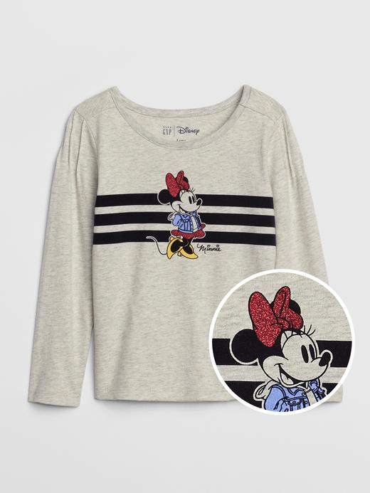 Kız Bebek Gri Disney Minnie Mouse Uzun Kollu T-Shirt
