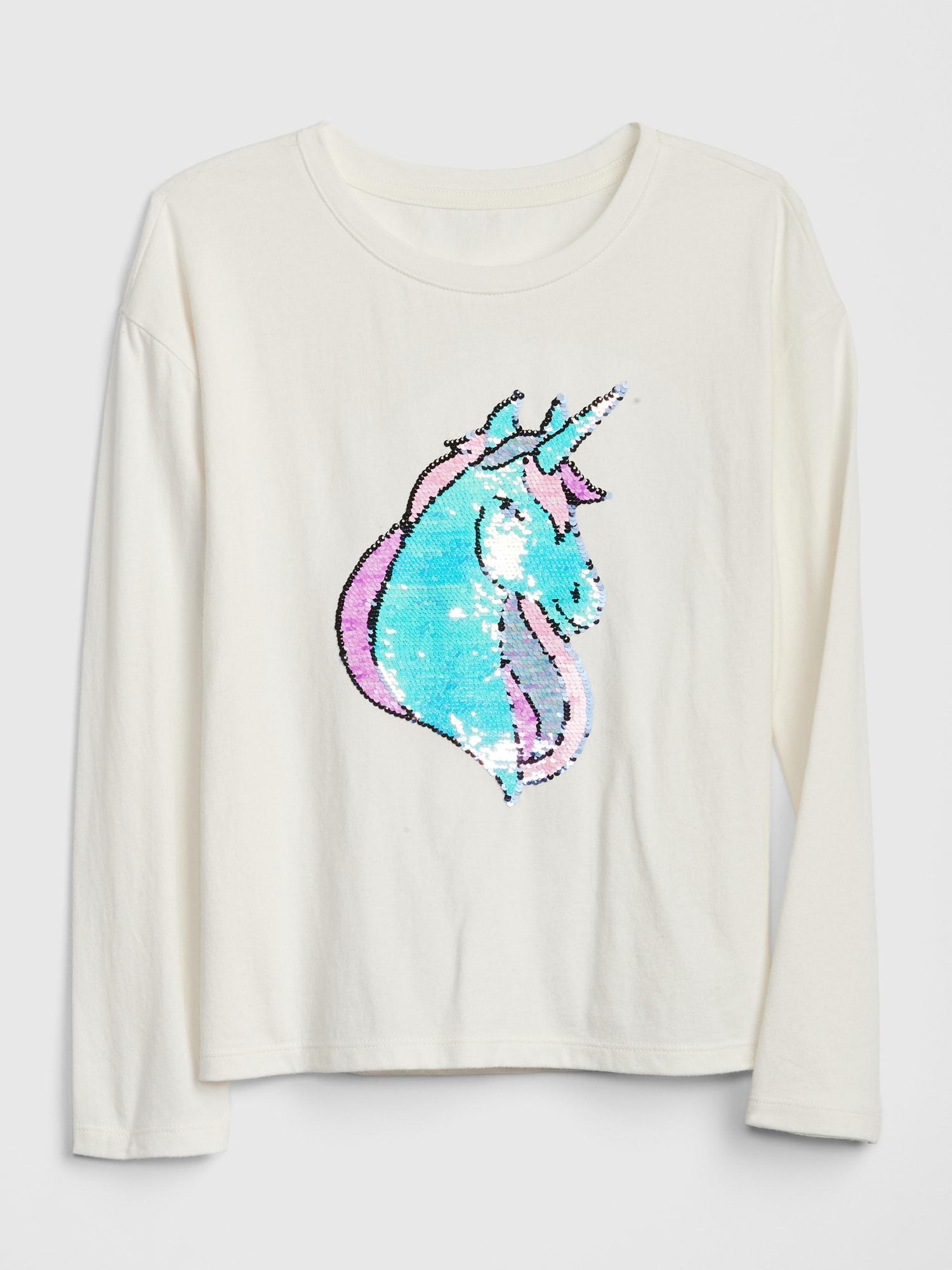 GAP Bej Grafik Pullu İşlemeli Uzun Kollu T-Shirt