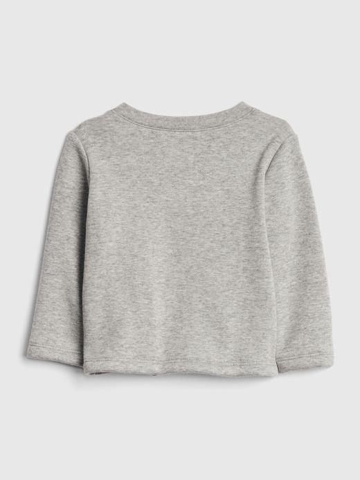 Erkek Bebek Gri Sıcak Tutan Cepli Sweatshirt