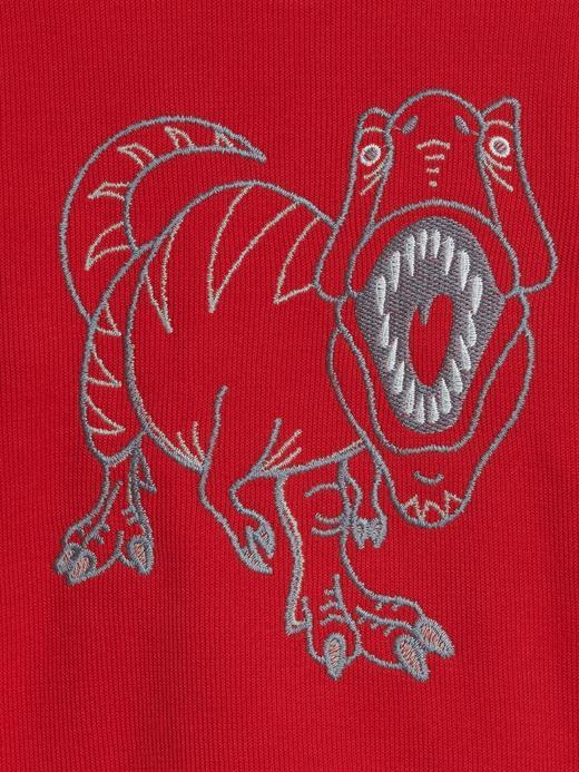 Erkek Bebek Kırmızı Yuvarlak Yaka Sweatshirt