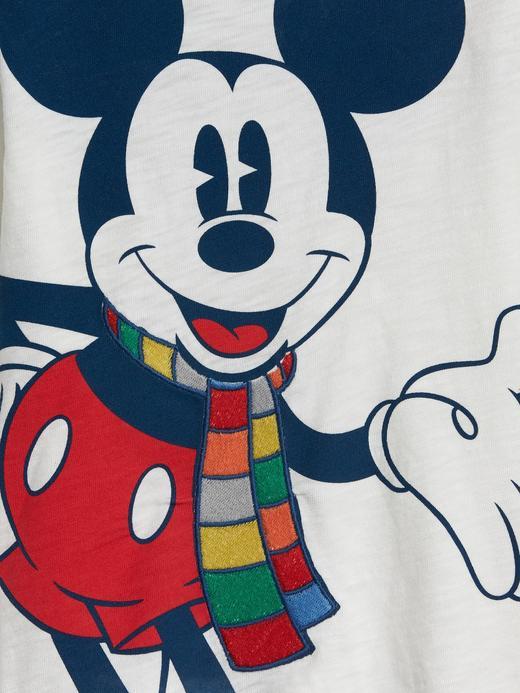 Erkek Bebek Kırmızı Disney Mickey Mouse Uzun Kollu T-Shirt
