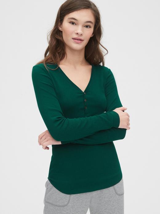 Kadın Yeşil Fitilli Uzun Kollu T-Shirt