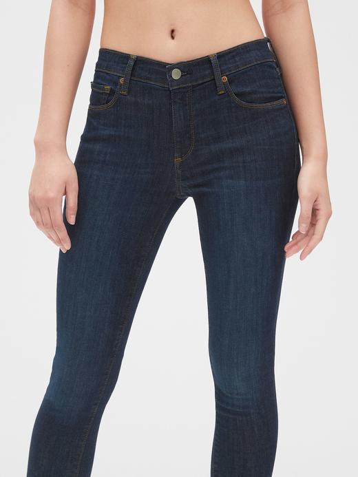 Kadın Lacivert Mid Rise True Skinny Jean Pantolon