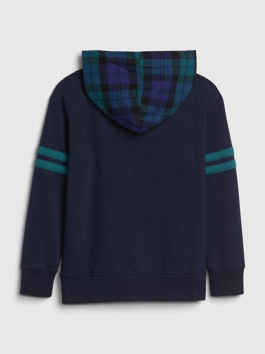 Erkek Çocuk Lacivert Gap Logo Kapüşonlu Sweatshirt