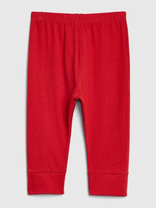 Erkek Bebek Kırmızı Yıldız İşlemeli Pull-On Eşofman Altı